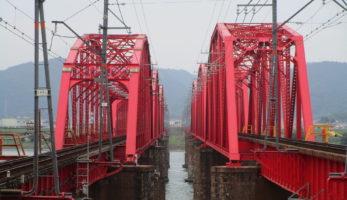 南海本線紀ノ川橋梁-時代の異なる2つの鋼トラス橋を比べ見る